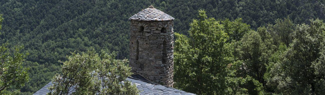 La Vall d'Enclar i l'esglèsia de Sant Vicenç